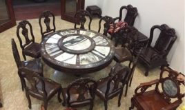 bộ bàn ghế ăn gỗ trắc