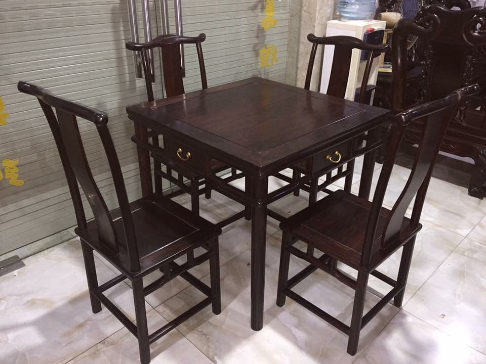 bộ bàn ghế ăn 4 ghế-1