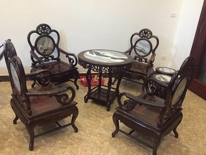 Bộ bàn ghế guột nho 7 món bàn 80cm hàng tái