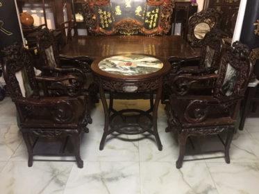 Bộ bàn ghế guột trúc gài cúc 7 món hàng mộc đẳng cấp
