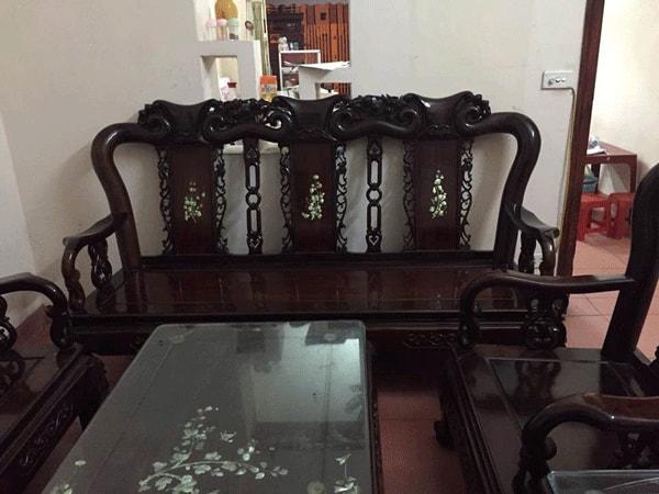 Bộ bàn ghế quốc đào tay 8 hàng 8 món gỗ trắc-1