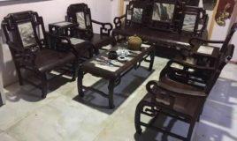 Bộ bàn ghế triện 8 món hàng sâu tuổi
