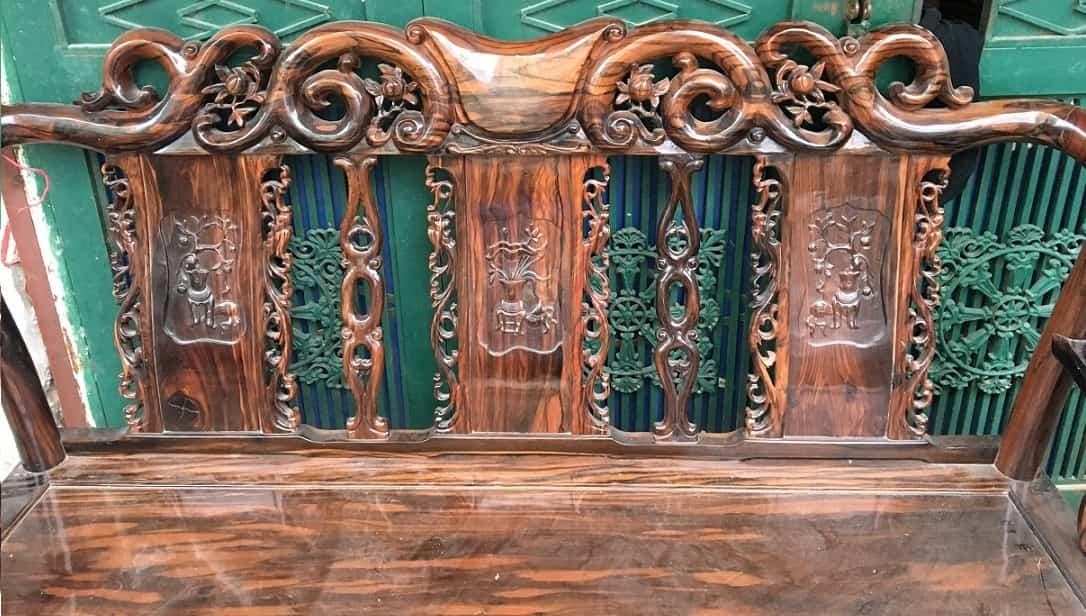Bộ bàn ghế gỗ mun minh đào tay 7 hàng 8 món-1